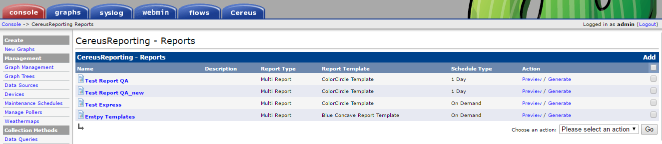 CereusReporting - Professional PDF Reports for Cacti